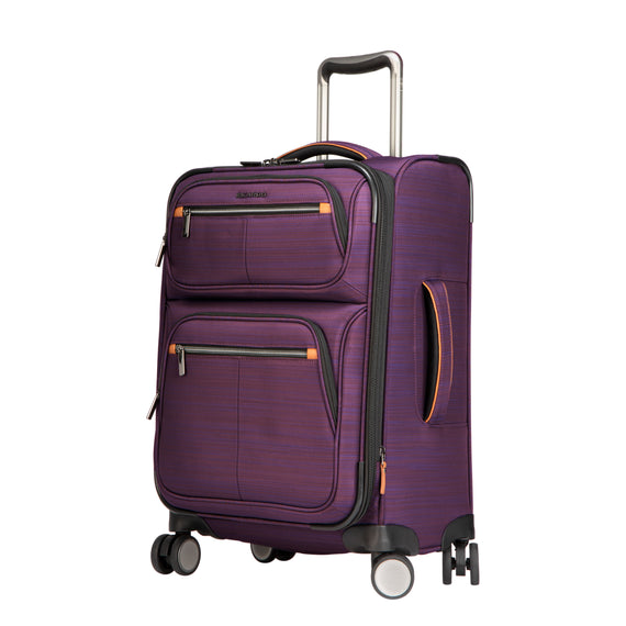 Carry-On Montecito 21-inch Carry-on in Purple Quarter Front View in  in Color:Purple in  in Description:Angled View