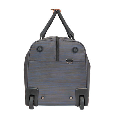 Weekender Rolling Duffel Montecito 22-inch Rolling Duffel in Gray Side View in  in Color:Gray in  in Description:Side
