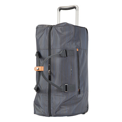 Weekender Rolling Duffel Montecito 22-inch Rolling Duffel in Gray Quarter Top View in  in Color:Gray in  in Description:Top