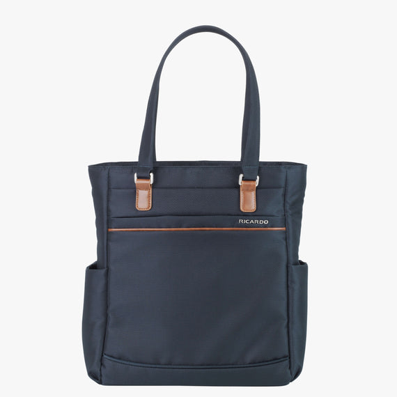 Travel Tote Sausalito 15-inch Tote in Midnight Blue Front View in  in Color:Midnight Blue in  in Description:Front