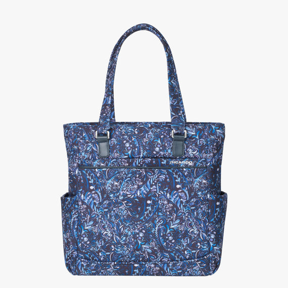 Travel Tote Sausalito 15-inch Tote in Blue Twist Front View in  in Color:Blue Twist in  in Description:Front