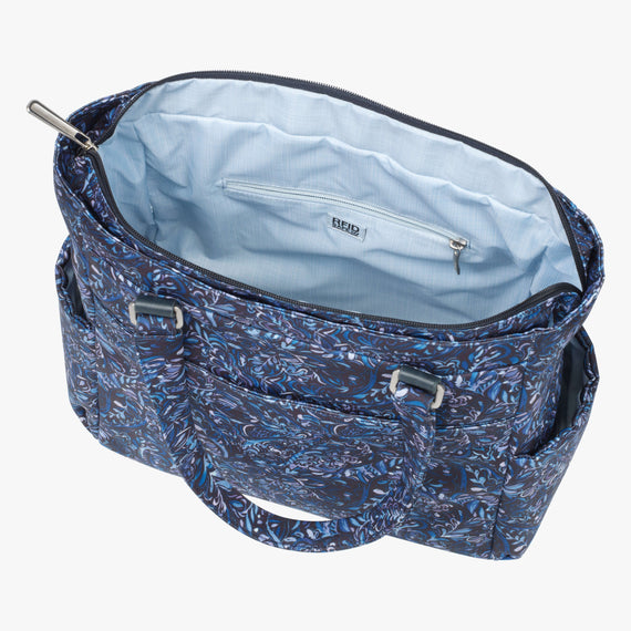 Travel Tote Sausalito 15-inch Tote in Blue Twist Secondary Open View in  in Color:Blue Twist in  in Description:Opened
