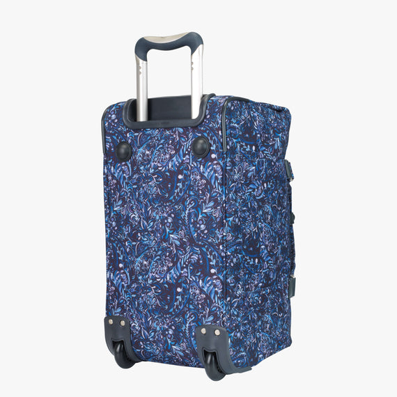 Weekender Rolling Duffel Sausalito 20-inch Rolling Duffel in Blue Twist Three Quarter View in  in Color:Blue Twist in  in Description:Bottom Angle
