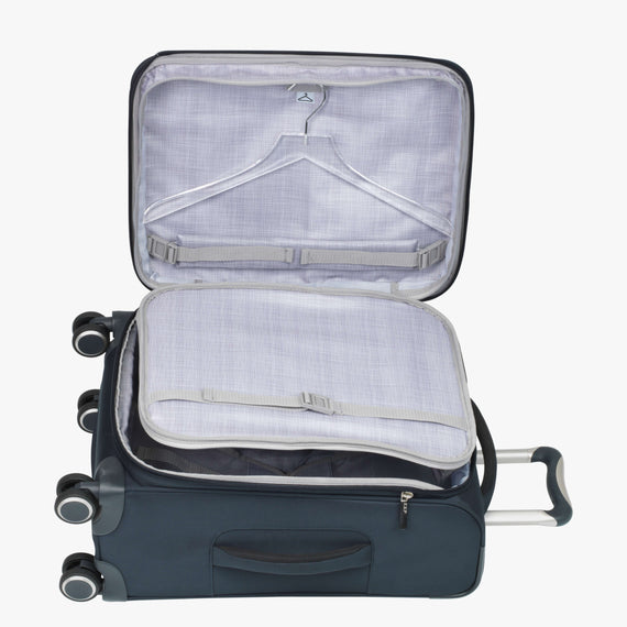 Carry-On Sausalito 21-inch Carry-on in Midnight Blue Secondary Open View in  in Color:Midnight Blue in  in Description:Open Detail