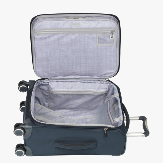 Carry-On Sausalito 21-inch Carry-on in Midnight Blue Open View in  in Color:Midnight Blue in  in Description:Opened