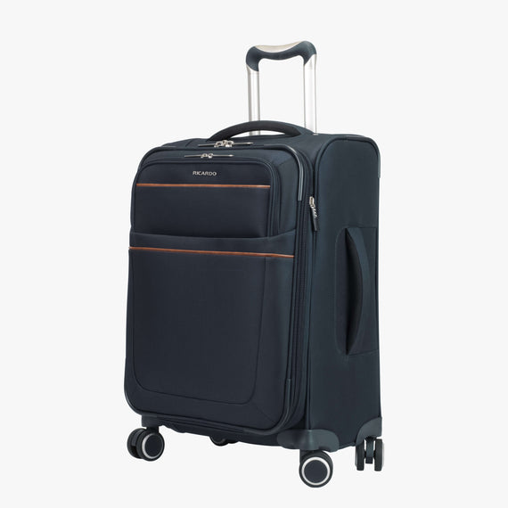 Carry-On Sausalito 21-inch Carry-on in Midnight Blue Quarter Front View in  in Color:Midnight Blue in  in Description:Angled View