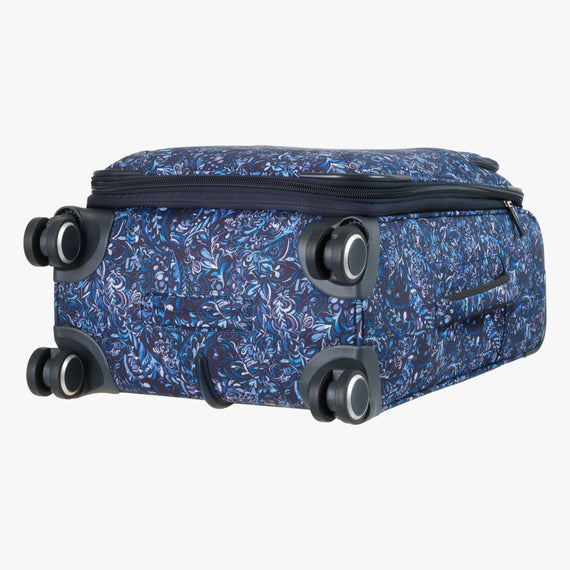 Carry-On Sausalito 21-inch Carry-on in Blue Twist Three Quarter View in  in Color:Blue Twist in  in Description:Bottom
