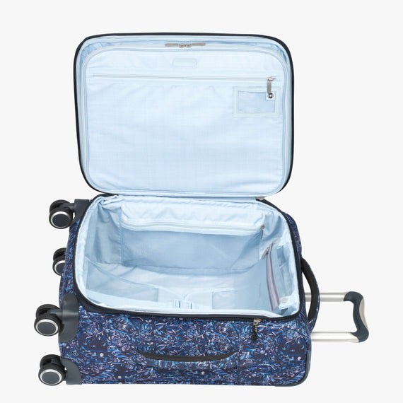 Carry-On Sausalito 21-inch Carry-on in Blue Twist Open View in  in Color:Blue Twist in  in Description:Opened