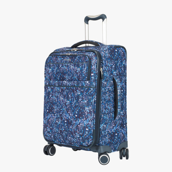 Carry-On Sausalito 21-inch Carry-on in Blue Twist Quarter Front View in  in Color:Blue Twist in  in Description:Angled View