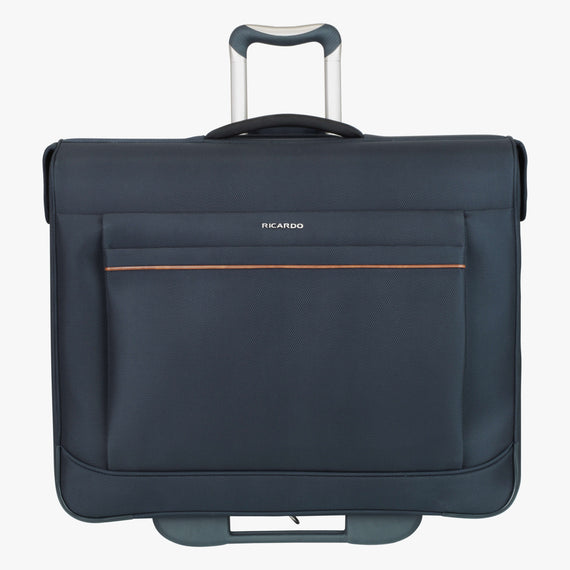 Rolling Garment Bag Sausalito 43-inch Rolling Garment Bag in Midnight Blue Front View in  in Color:Midnight Blue in  in Description:Front