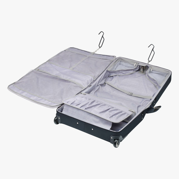 Rolling Garment Bag Sausalito 43-inch Rolling Garment Bag in Midnight Blue Secondary Open View in  in Color:Midnight Blue in  in Description:Opened