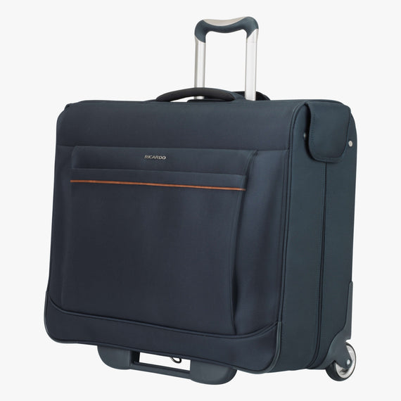 Rolling Garment Bag Sausalito 43-inch Rolling Garment Bag in Midnight Blue Quarter Front View in  in Color:Midnight Blue in  in Description:Angled View