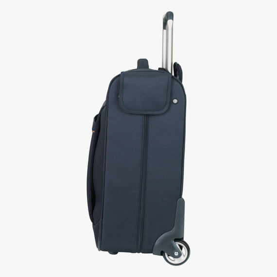 Rolling Garment Bag Sausalito 43-inch Rolling Garment Bag in Midnight Blue Side View in  in Color:Midnight Blue in  in Description:Side
