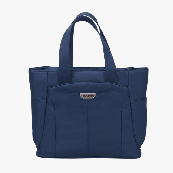 Travel Tote Delano Travel Tote in Patriot Blue Front View in  in Color:Patriot Blue in  in Description:Front