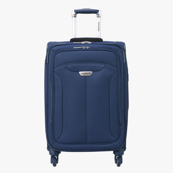 Carry-On Delano 21-inch Carry-On Suitcase in Patriot Blue Front View in  in Color:Patriot Blue in  in Description:Front