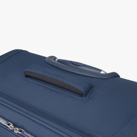 Carry-On Delano 21-inch Carry-On Suitcase in Patriot Blue Top View in  in Color:Patriot Blue in  in Description:Top