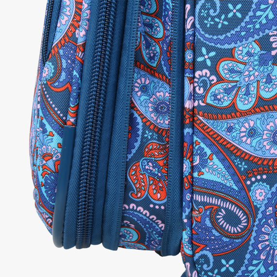 Medium Check-In Delano 25-inch Check-In Suitcase in Indigo Paisley Expansion View in  in Color:Indigo Paisley in  in Description:Expansion