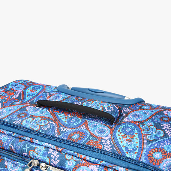 Medium Check-In Delano 25-inch Check-In Suitcase in Indigo Paisley Top View in  in Color:Indigo Paisley in  in Description:Top