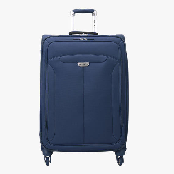 Medium Check-In Delano 25-inch Check-In Suitcase in Patriot Blue Front View in  in Color:Patriot Blue in  in Description:Front