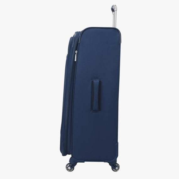 Large Check-In Delano 29-inch Check-In Suitcase in Patriot Blue Side View in  in Color:Patriot Blue in  in Description:Side