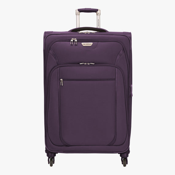 Large Check-In Santa Cruz 6.0 28-inch Large Check-in Suitcase in Purple Front View in  in Color:Purple in  in Description:Front