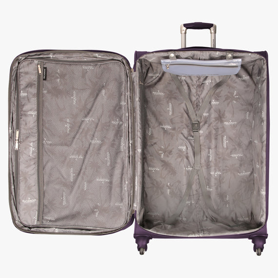 Large Check-In Santa Cruz 6.0 28-inch Large Check-in Suitcase in Purple Open View in  in Color:Purple in  in Description:Open