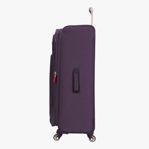 Large Check-In Santa Cruz 6.0 28-inch Large Check-in Suitcase in Purple Side View in  in Color:Purple in  in Description:Side