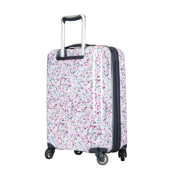 Carry-On Beaumont Carry-On Suitcase in Confetti Back Angle View in  in Color:Confetti in  in Description:Back Angle