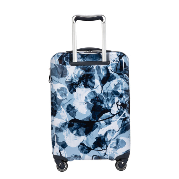 Carry-On Beaumont Carry-On Suitcase in Blue Gingko Back View in  in Color:Blue Gingko in  in Description:Back