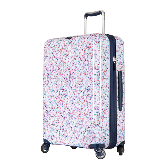 Medium Check-In Beaumont Medium Check-in Suitcase in Confetti Quarter Front View in  in Color:Confetti in  in Description:Angled View