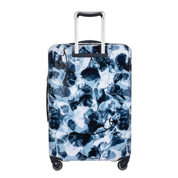 Medium Check-In Beaumont Medium Check-in Suitcase in Blue Gingko Back View in  in Color:Blue Gingko in  in Description:Back