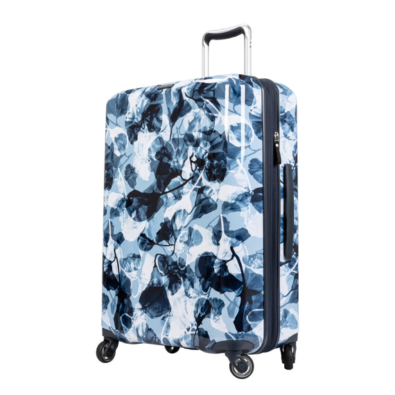 Medium Check-In Beaumont Medium Check-in Suitcase in Blue Gingko Quarter Front View in  in Color:Blue Gingko in  in Description:Angled View