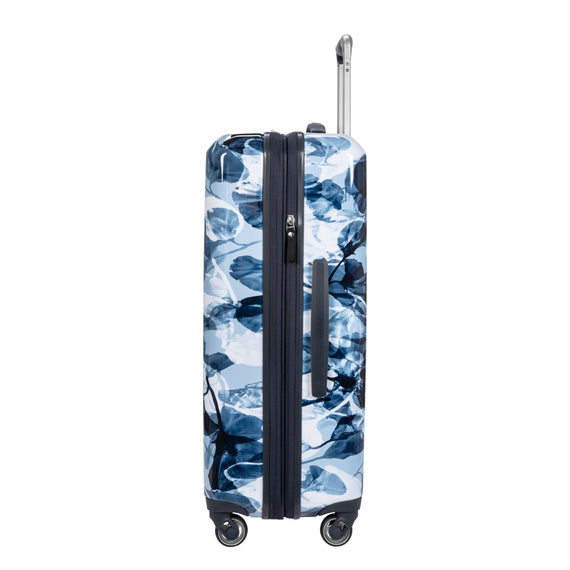 Medium Check-In Beaumont Medium Check-in Suitcase in Blue Gingko Side View in  in Color:Blue Gingko in  in Description:Side
