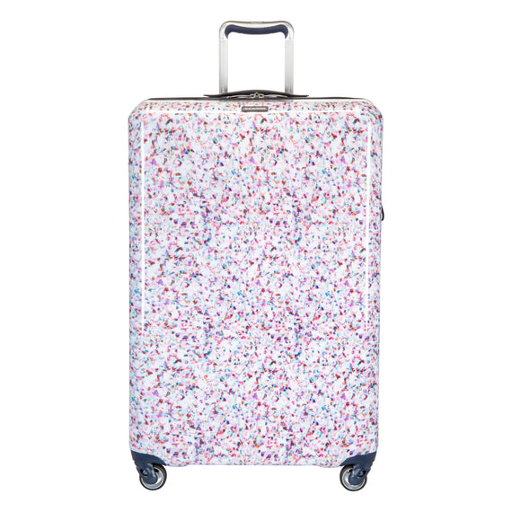 Large Check-in Beaumont Large Check-In Suitcase in Confetti Front View in  in Color:Confetti in  in Description:Front