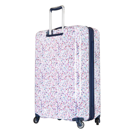 Large Check-in Beaumont Large Check-In Suitcase in Confetti Back Angle View in  in Color:Confetti in  in Description:Back Angle
