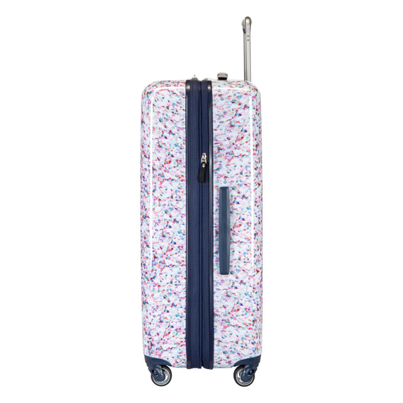 Large Check-in Beaumont Large Check-In Suitcase in Confetti Side View in  in Color:Confetti in  in Description:Side