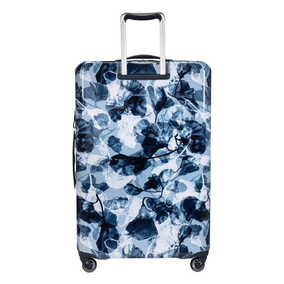 Large Check-in Beaumont Large Check-In Suitcase in Blue Gingko Back View in  in Color:Blue Gingko in  in Description:Back