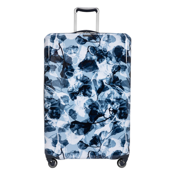 Large Check-in Beaumont Large Check-In Suitcase in Blue Gingko Front View in  in Color:Blue Gingko in  in Description:Front