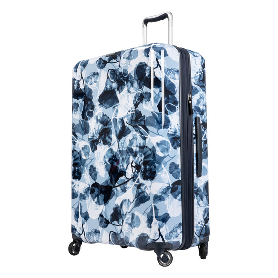 Large Check-in Beaumont Large Check-In Suitcase in Blue Gingko Quarter Front View in  in Color:Blue Gingko in  in Description:Angled View