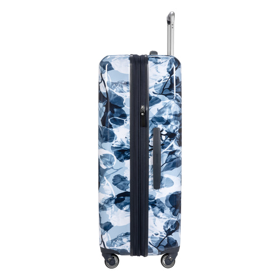 Large Check-in Beaumont Large Check-In Suitcase in Blue Gingko Side View in  in Color:Blue Gingko in  in Description:Side