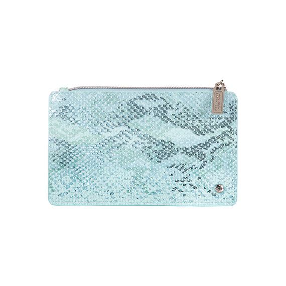 Emma Slim Wallet Grace Brush Case in Cairo - Oasis Front View in  in Color:Cairo - Oasis in  in Description:Front