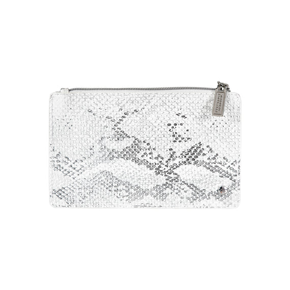 Emma Slim Wallet Grace Brush Case in Cairo - White Sands Front View in  in Color:Cairo - White Sands in  in Description:Front