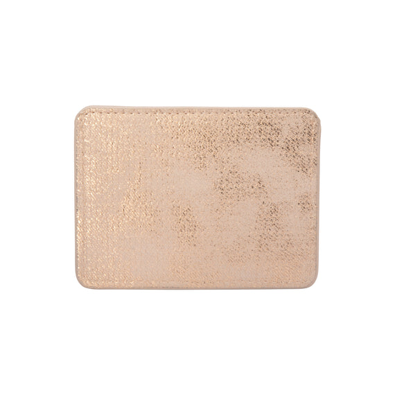 Slim Card Holder Slim Card Holder in Jakarta - Gold Back View in  in Color:Jakarta - Gold in  in Description:Back