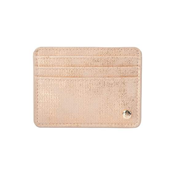 Slim Card Holder Slim Card Holder in Jakarta - Gold Front View in  in Color:Jakarta - Gold in  in Description:Front