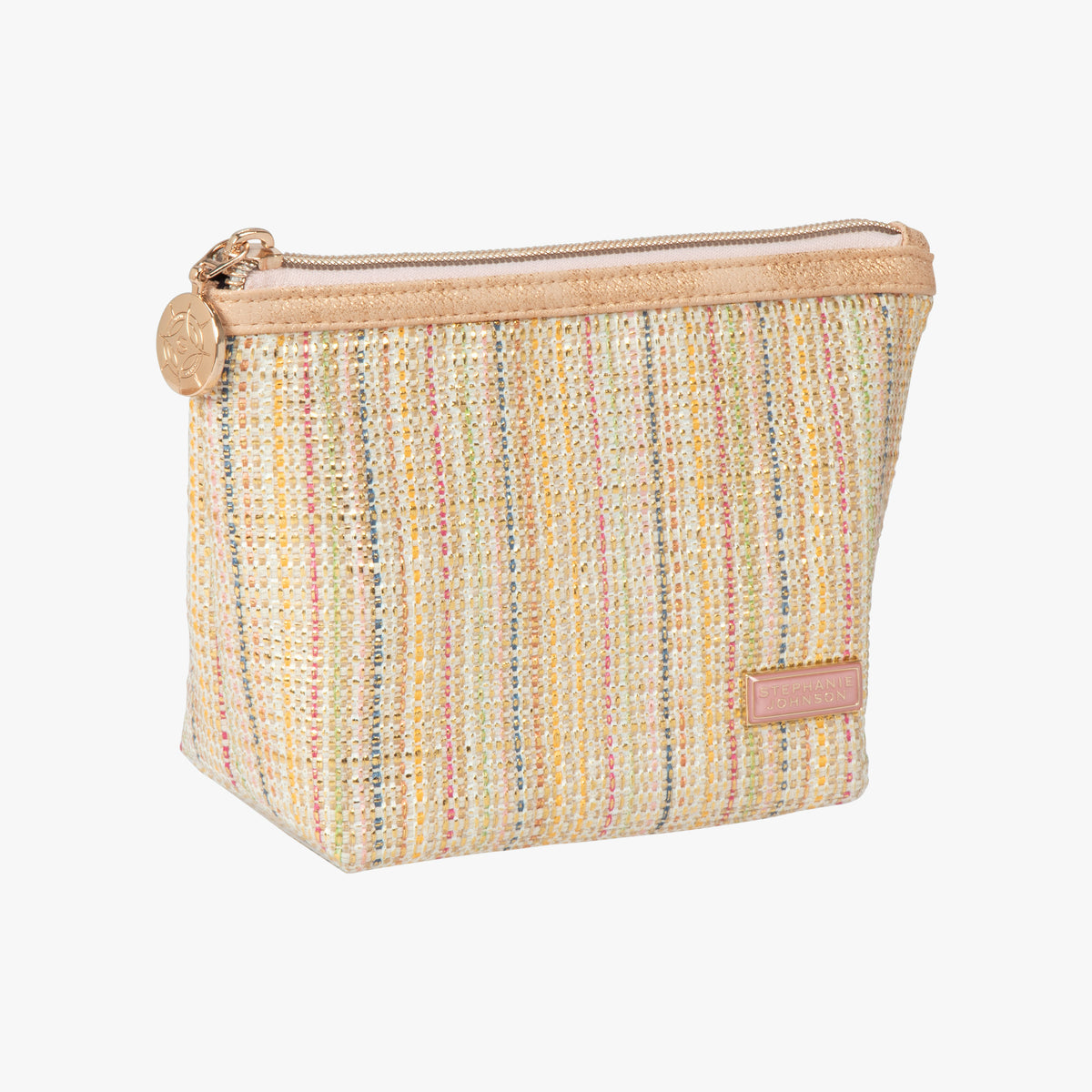 46f590a62fab21 ... Laura Small Trapezoid Bag Laura Small Trapezoid Bag in Jakarta - Gold  Angled View in in ...