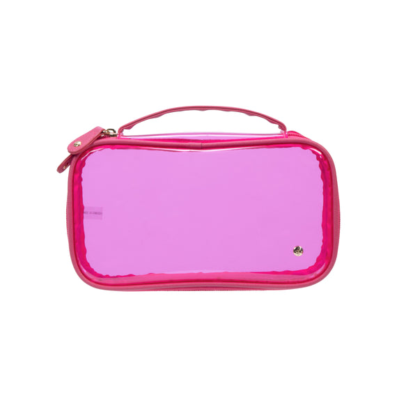 Claire Medium Makeup Case Claire Medium Makeup Case in Miami - Raspberry Front View in  in Color:Miami - Raspberry in  in Description:Front