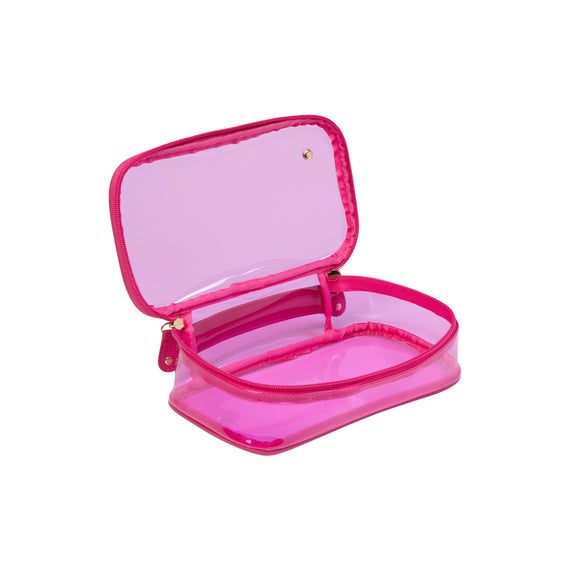 Claire Medium Makeup Case Claire Medium Makeup Case in Miami - Raspberry Opened View in  in Color:Miami - Raspberry in  in Description:Opened