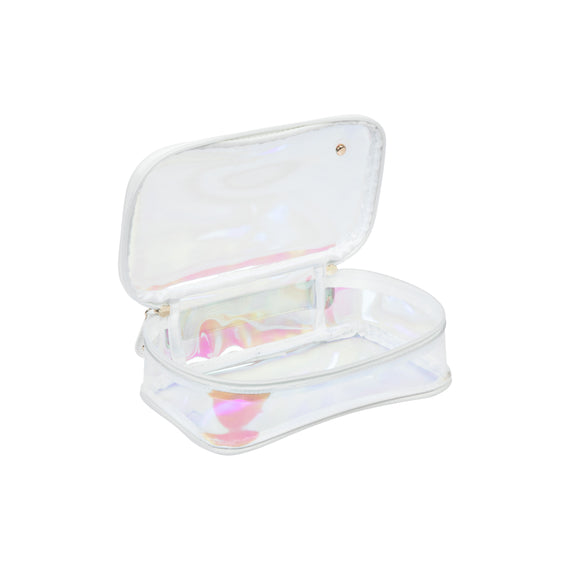 Claire Medium Makeup Case Claire Medium Makeup Case in Miami - White Opened View in  in Color:Miami - White in  in Description:Opened