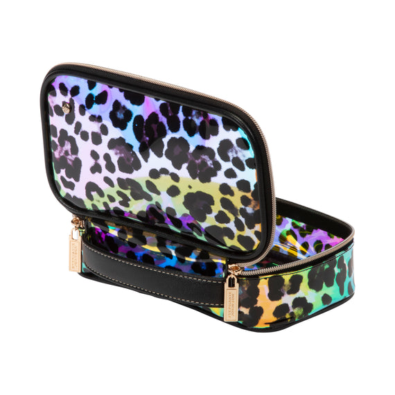 Claire Medium Makeup Case Claire Medium Makeup Case in Miami - Cheetah Holograph Open Detail View in  in Miami - Cheetah Holograph in  in Description:Open Detail