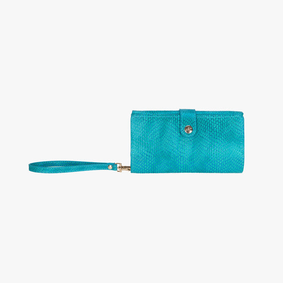 Jane Wristlet Tech Wallet - Havana Havana Jane Wristlet Tech Wallet in Blue main view in  in Color:Blue in  in Description:Front